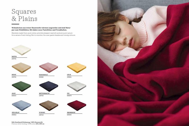Ibena Jacquard Decke Turin 7 Vers Farben